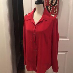 NWOT Etcetera silk blouse